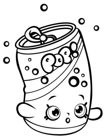 Soda Pops Shopkin Malarbok Shopkin Coloring Pages Cute Coloring Pages Shopkins Colouring Pages