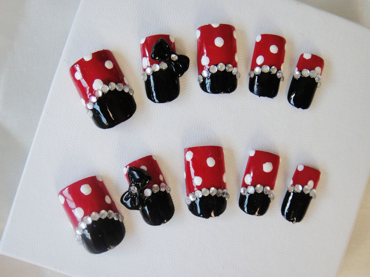 Kawaii 3D Nail Art Minnie Mouse | Nails | Pinterest | Diseños de ...