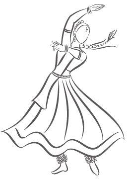 Kathak Dancer Dance Paintings Dancing Drawings Art Drawings Simple