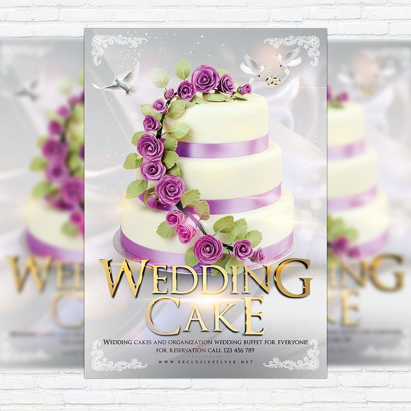 Wedding Cake - Premium Flyer Template + Facebook Cover http - wedding flyer