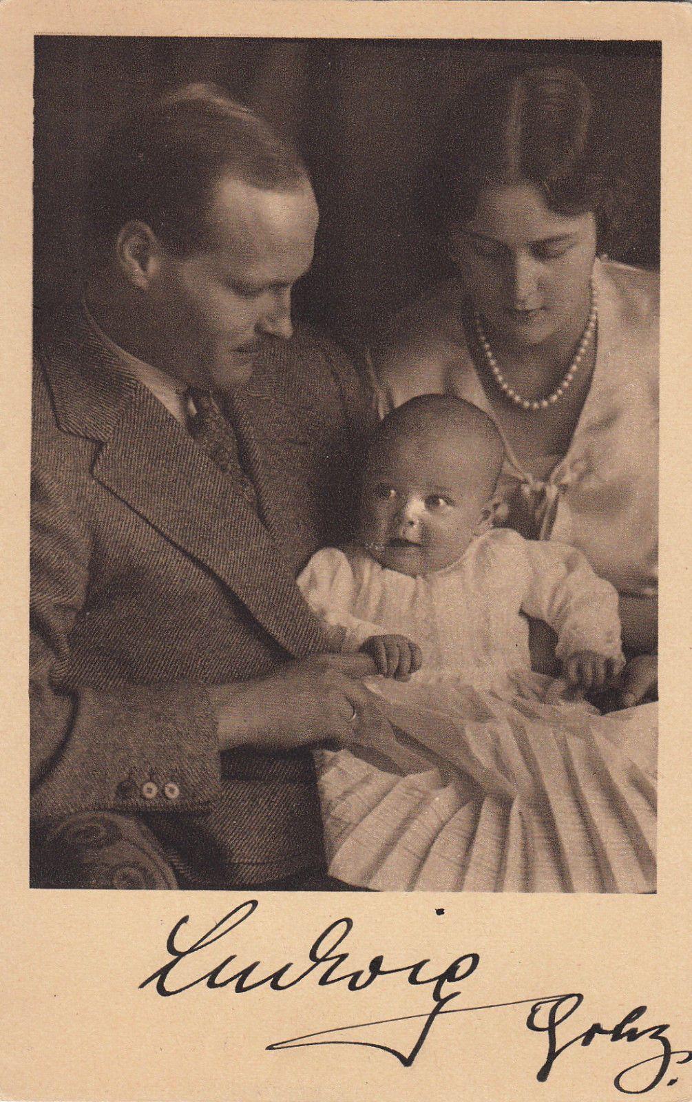 ak v prinz ludwig v hessen darmstadt m autograph 1940 sammeln seltenes ansichtskarten. Black Bedroom Furniture Sets. Home Design Ideas