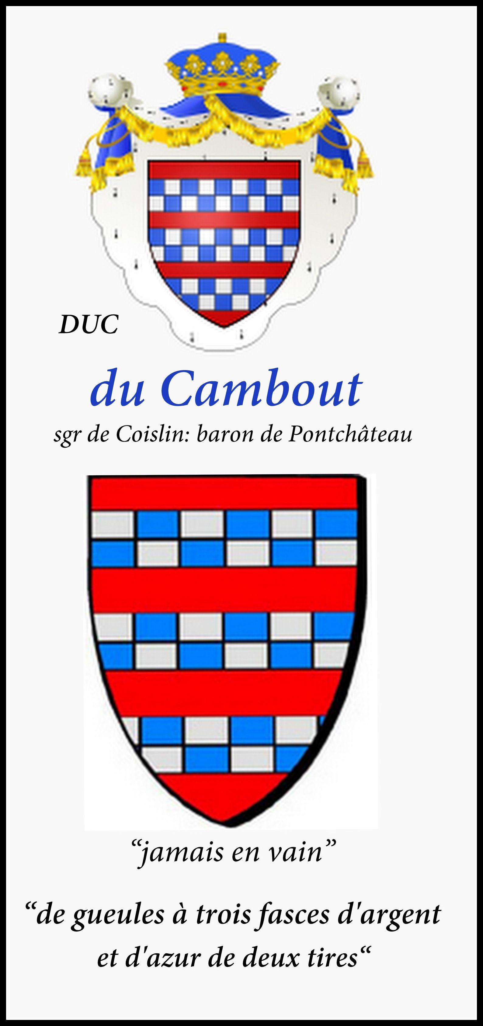 De Pontchâteau du Cambout de Coislin