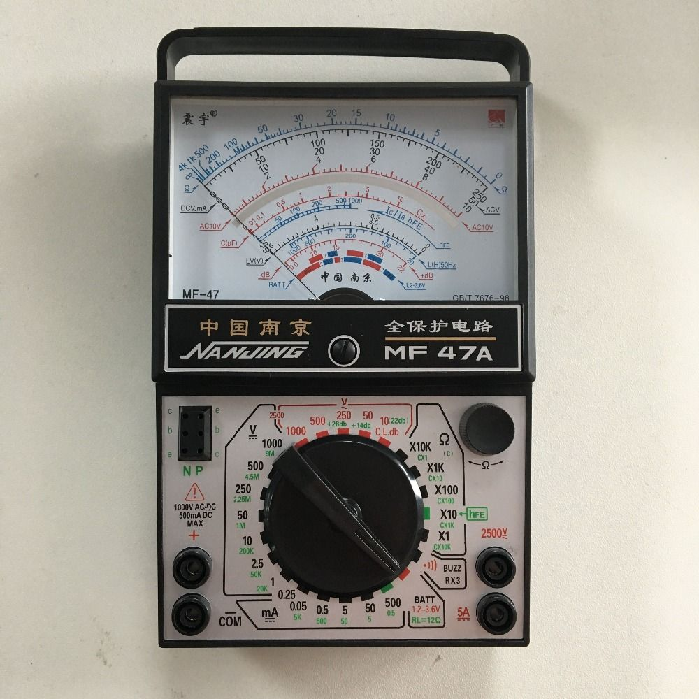 Mf47a Ac Dc Voltage Current Resistance Capacitance Buzzer On Off The From A Battery Is Direct Testing Diode Analog Multimeter