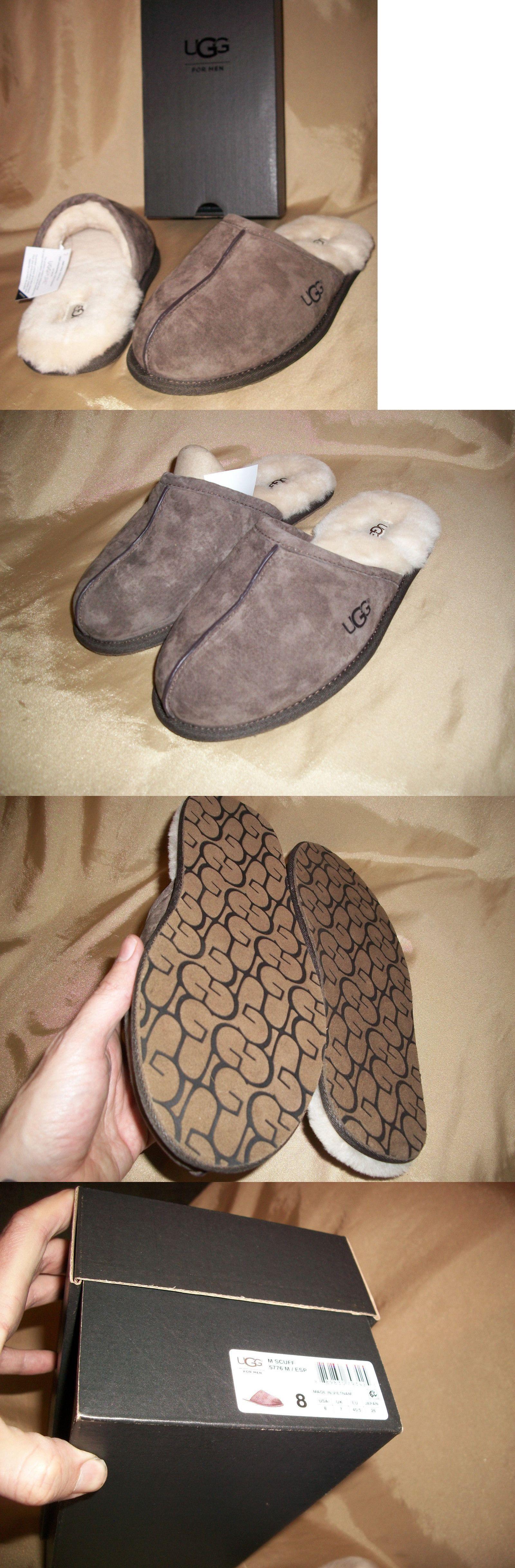 4696864a1c8 Slippers 11505: New! Size 8 Ugg Aust. Sheepskin-Suede Mens Scuff ...