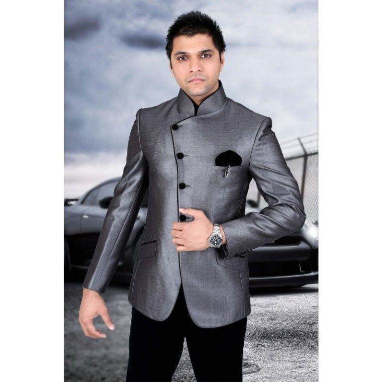 Men Fashion Designer Wedding Tuxedo Indo Western Style Suit Blazer ...