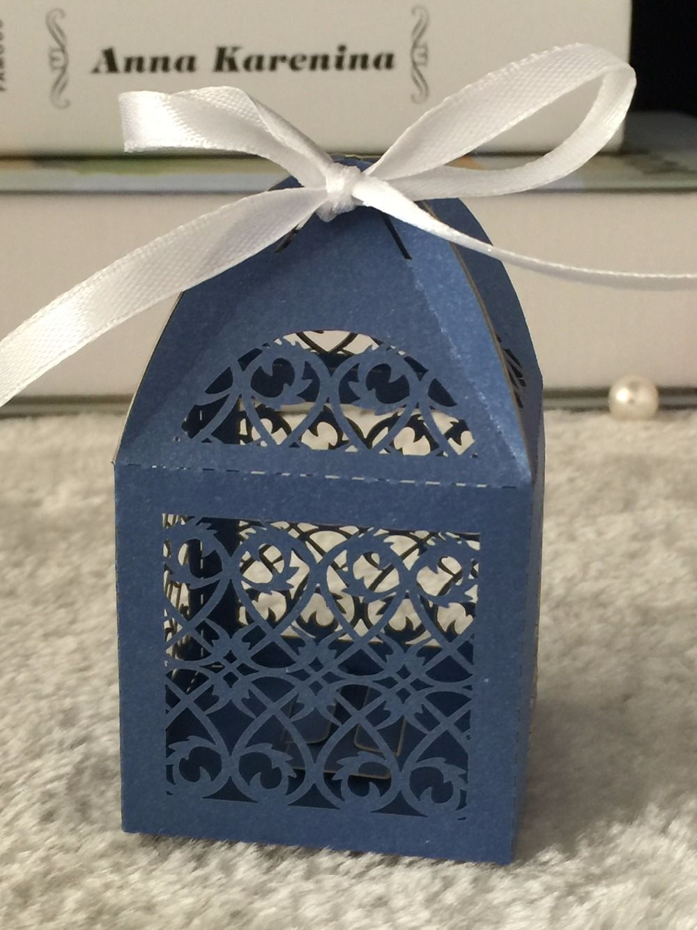 Find more party favors information about 300pieces sea blue find more party favors information about 300pieces sea blue wedding gift candy boxes with ribbon negle Choice Image
