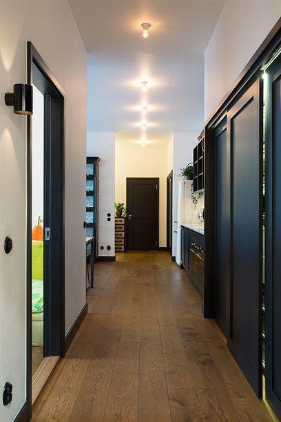 Puertas negras couloire Pinterest Doors - peindre un encadrement de porte