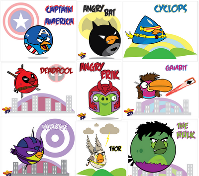 Superhéroes versión Angry Birds   MARVEL-OUS!   Pinterest   Angry ...