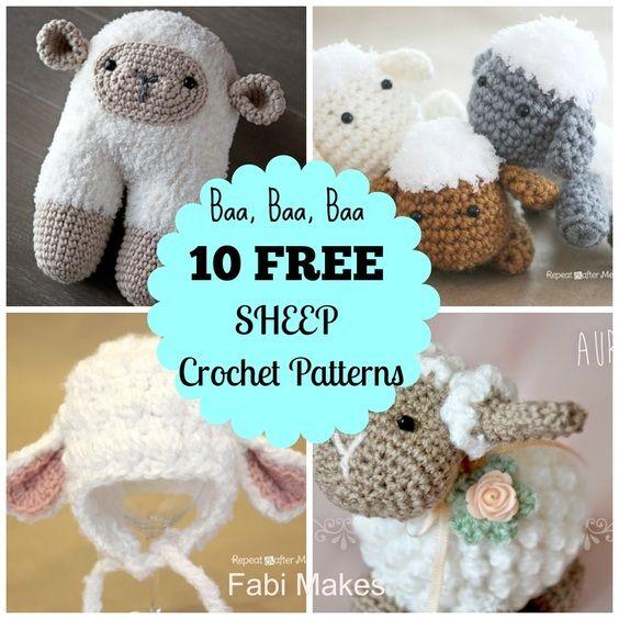 10 Free Sheep Patterns Crochet Roundup Posts Pinterest