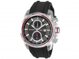 Relógio masculino Technos, estilo casual, analógico com pulseira feita em silicone e caixa em aço. É a prova d' água, suportando uma profundidade aproximada de 100 metros. Moderno, é ideal para as homens descolados e com estilo!