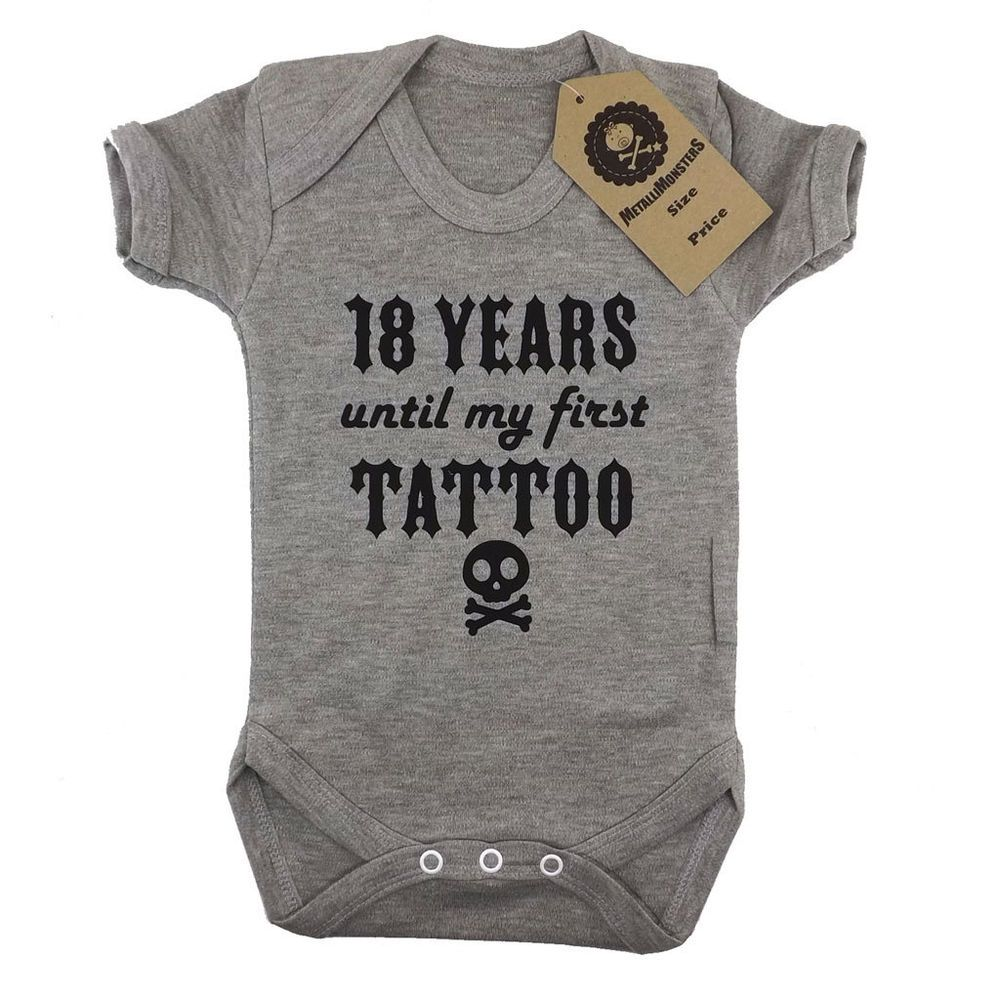 46c2e961f Metallimonsters first tattoo vest grey alternative rock metal baby onesie  in Baby, Clothes, Shoes & Accessories, Other Clothing, Shoes & Accs. | eBay!