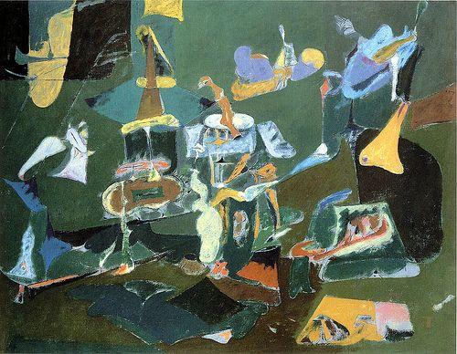Dark Green Painting - Arshile Gorky - WikiArt.org | Art ...