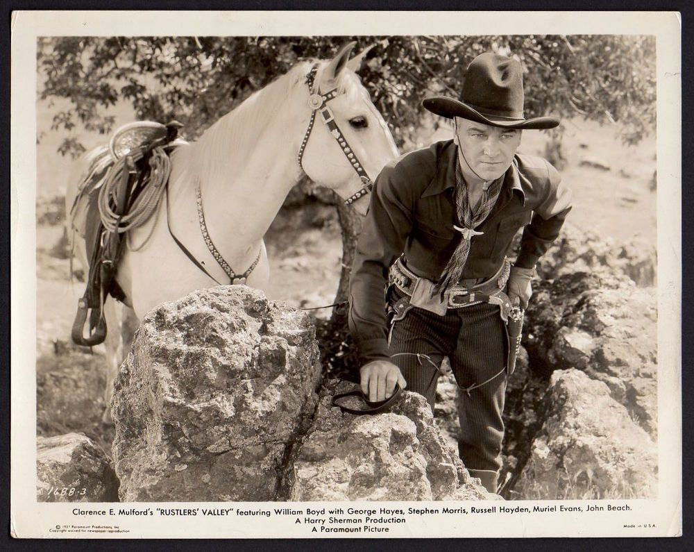 Photograph Movie Pinterest: WILLIAM BOYD Hopalong Cassidy Western Film RUSTLER'S