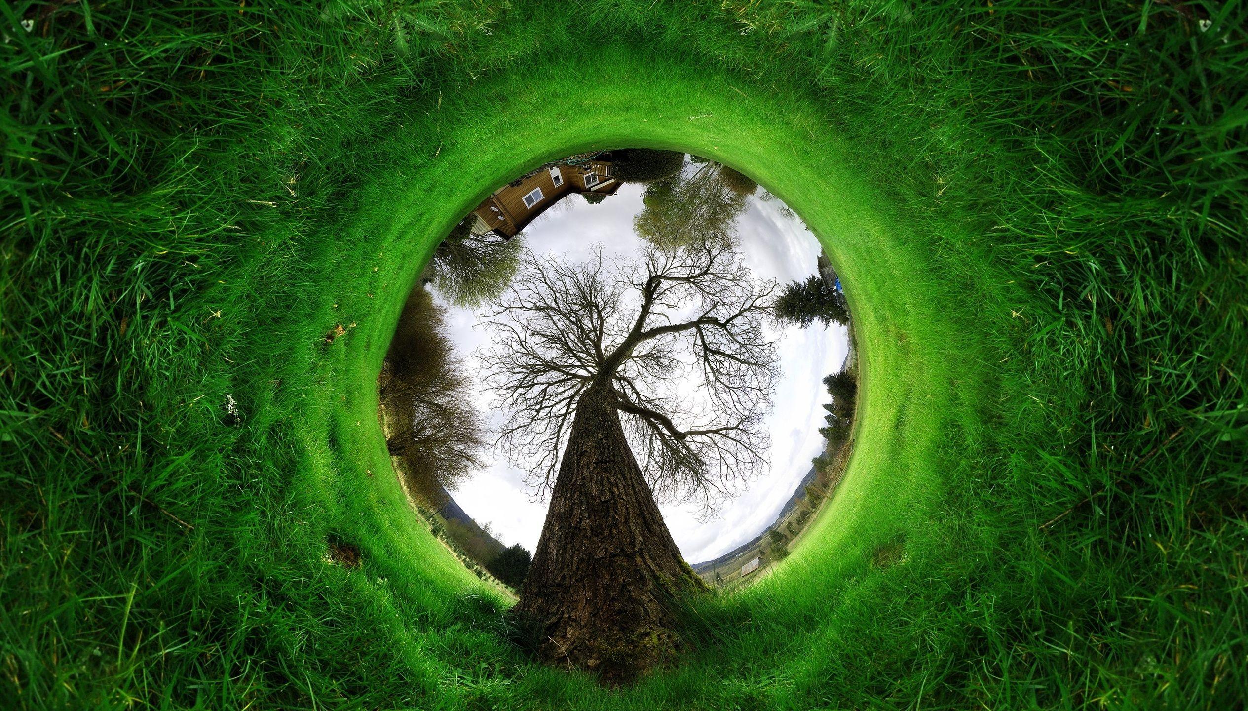 panorama green sphere