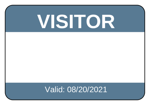 Keep Your School Or Office Organized With This Name Tag Sticker Template For Guests Visitors Customize On The Name Tags Custom Printed Labels Printing Labels