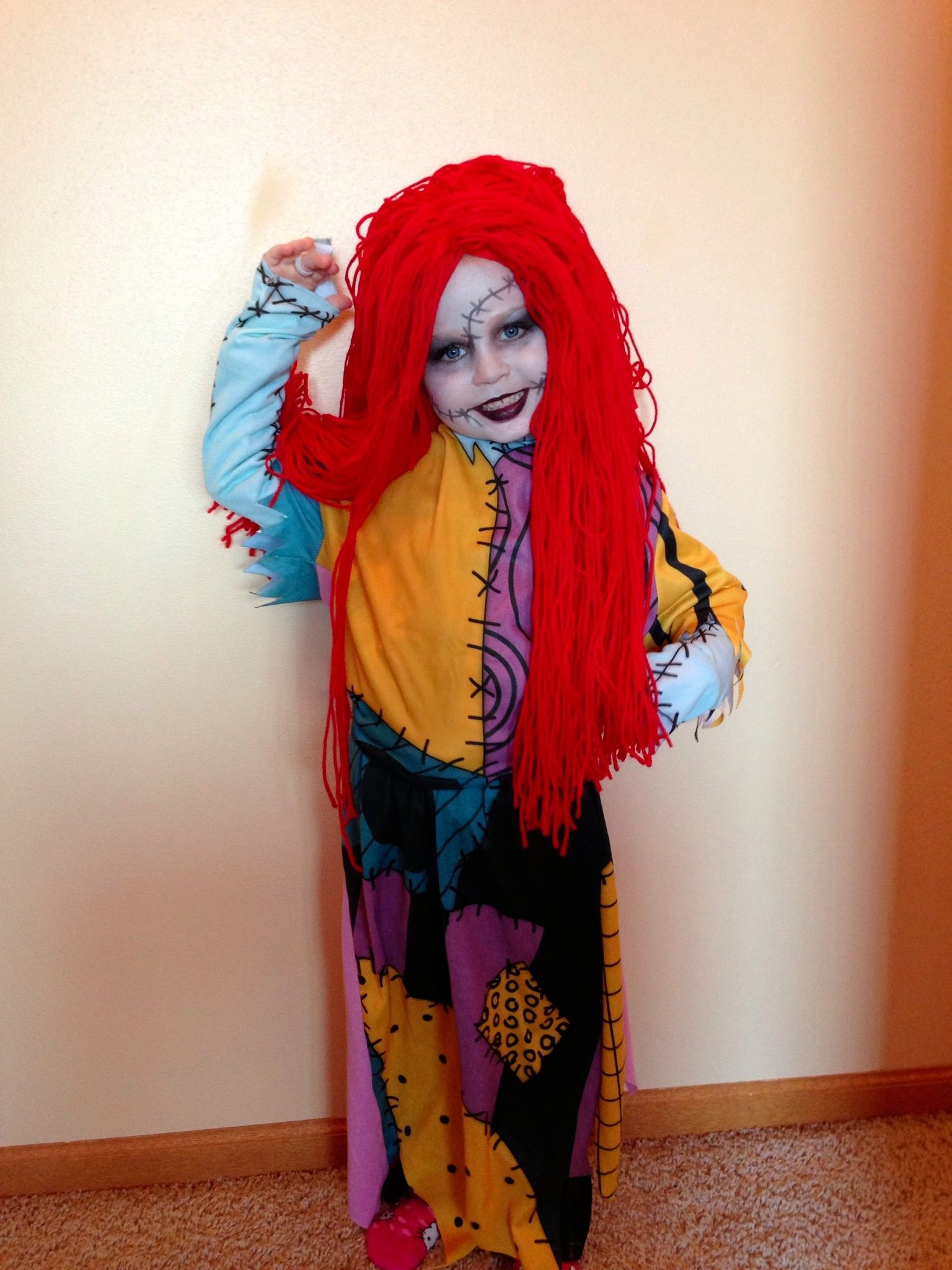 Sally the nightmare before Christmas Halloween makeup. OMG