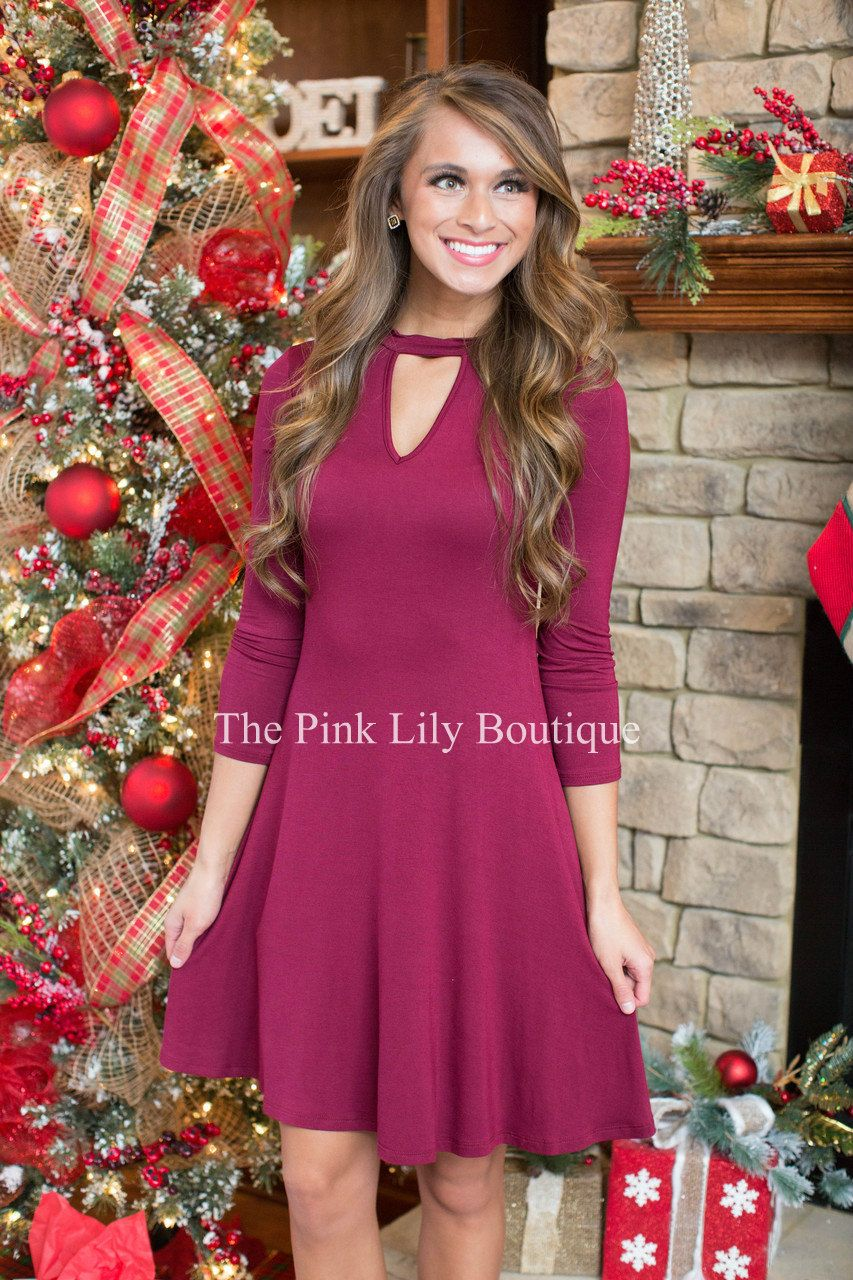 Dancing In The Moonlight Burgundy - The Pink Lily Boutique | Dresses ...