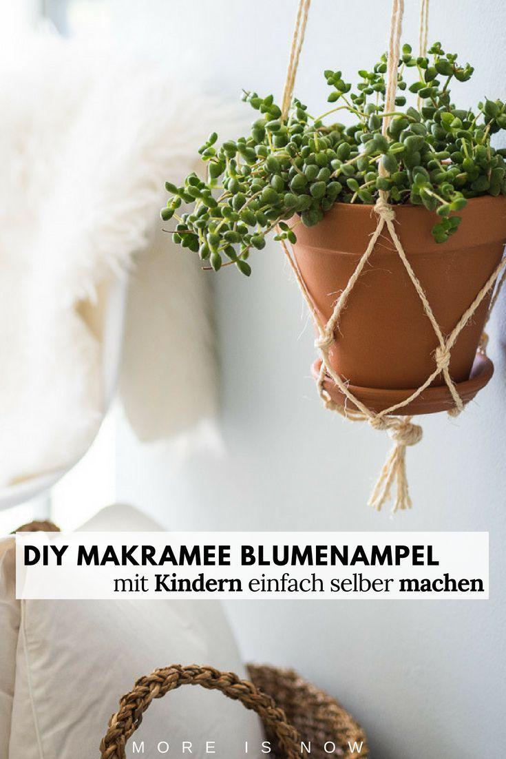 DIY Makramee Blumenkorb als Mama einfach selber machen ...
