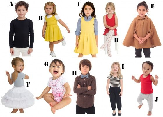 American Apparel: Kids, Toddlers & Babes