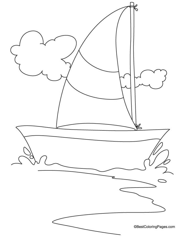 Sailing yacht coloring page Download Free Sailing yacht coloring