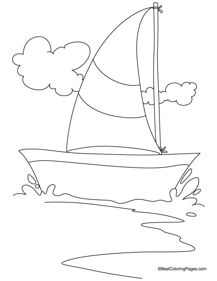 Sailing Yacht Coloring Page Download Free Sailing Yacht Coloring