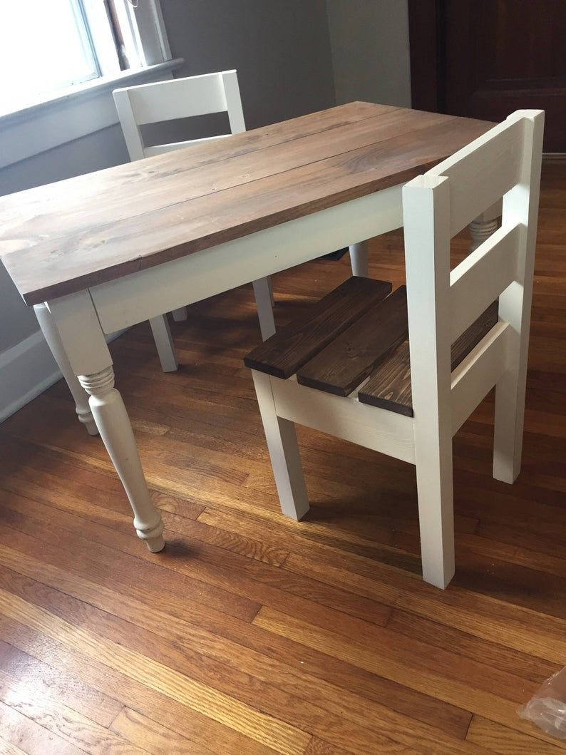 Childrens farmhouse table and chairs sold separately