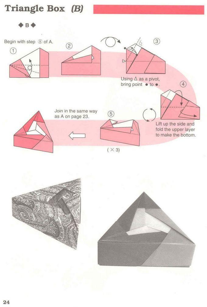 Origami Triangular Box Diagram