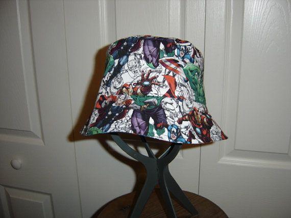 Reversible Marvel Avengers Bucket Hat by allthatjazzdesigns  51a8da1d823