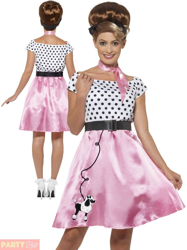 e122e4e447ea Ladies 50's Rock 'N' Roll Costume Adults 1950s Fancy Dress Poodle Grease  Womens | Clothes, Shoes & Accessories, Fancy Dress & Period Costume, Fancy  Dress ...