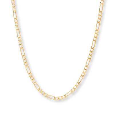 0afab93b838 Men's Figaro Link Chain 14K Yellow Gold 20
