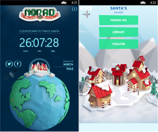 Track Santa using the official NORAD app on your Nokia