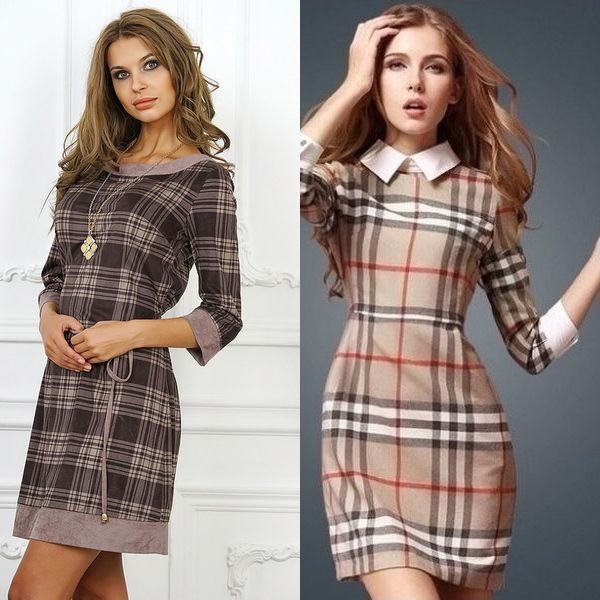 squaredress4 (2) | Платья в 2019 г. | Burberry dress ... Тартан Платье