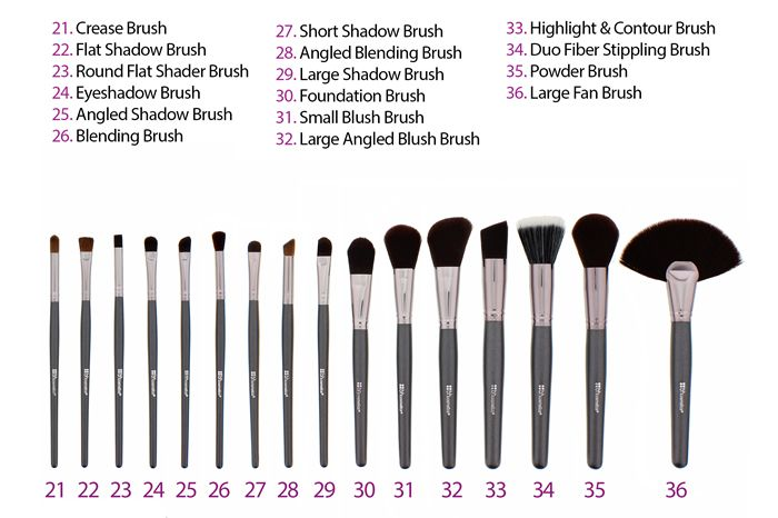 36 Pc Ultimate Brush Set Bh Cosmetics Makeup Brush Set Mac Makeup Brushes Makeup Brushes Guide