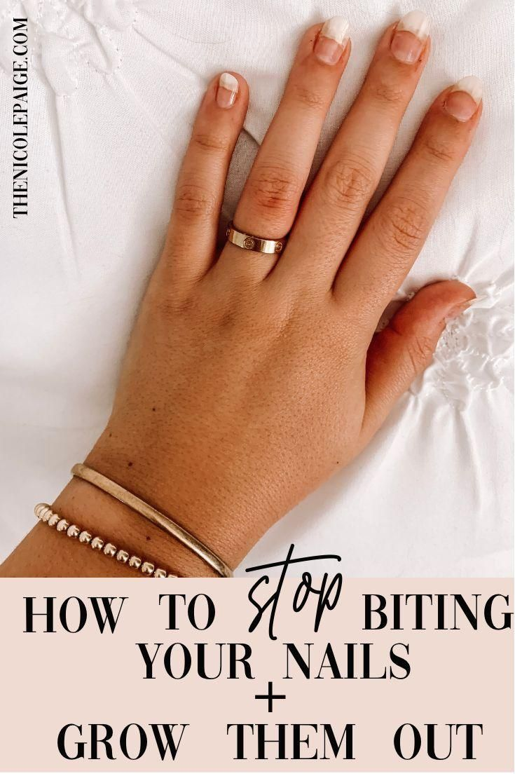 #nails  #nailbiting  #grownails  #longnails  #nailhealth  #healthynails #grow #your  Wanting to grow out your nails after being a nail biter for years? I have been in that spot too many times to count. Since I was a little girl, one of my worst habits was biting my nails and as I got older and started college the habit got so much worse. Finally, I learned a couple tips and tricks that helped me kick the habit!