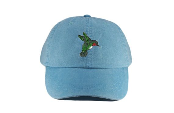 d7bf1f3dee6e8 Hummingbird embroidered hat baseball cap dad hat mom cap ...