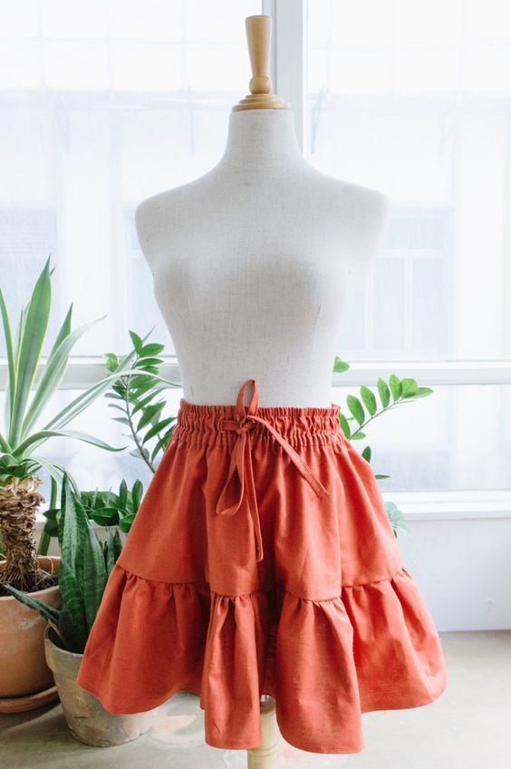 DIY Gathered Mini Skirt | Collective Gen