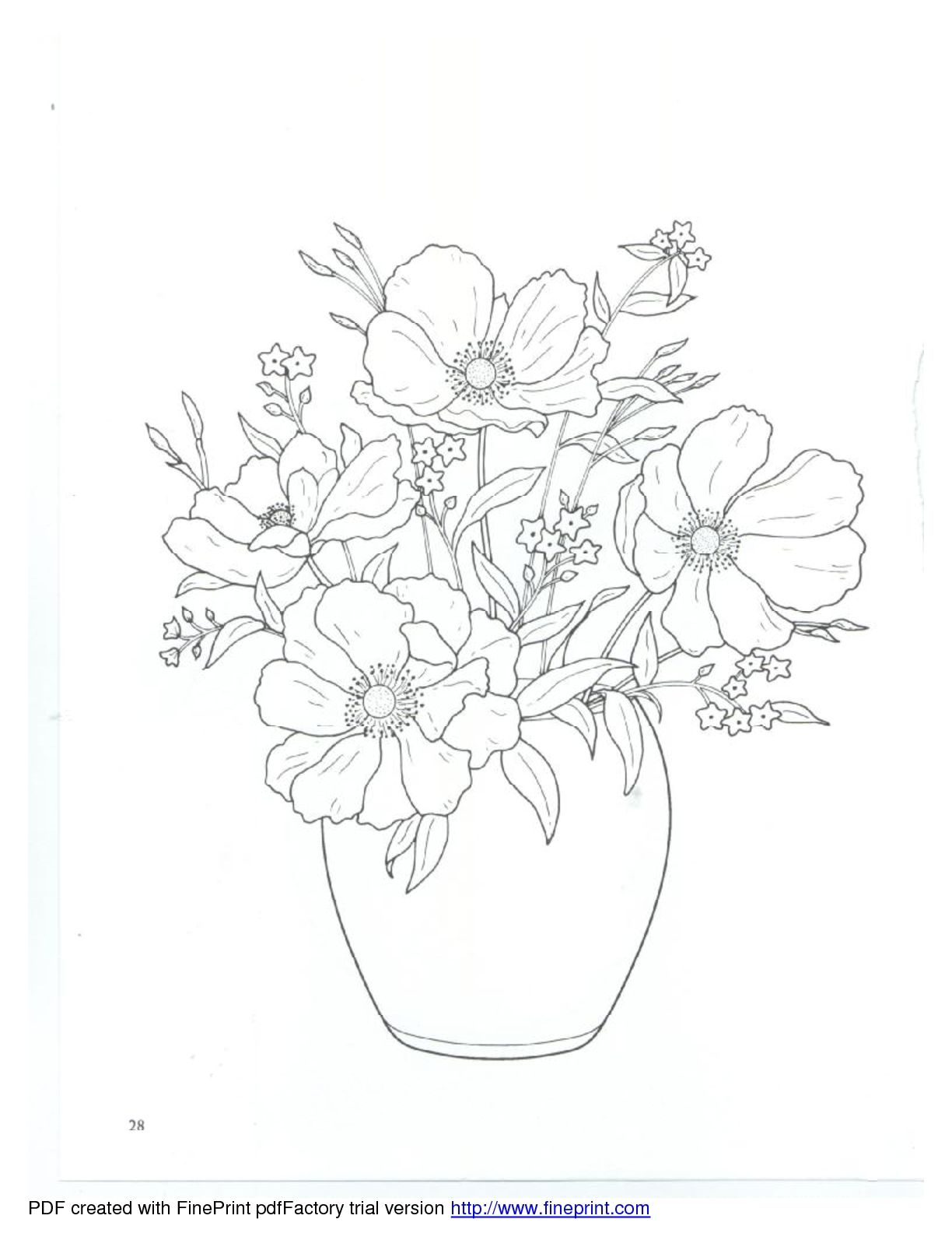 Dover Floral Bouquets Coloring Book Coloring Books Flower Drawing Simple Line Drawings