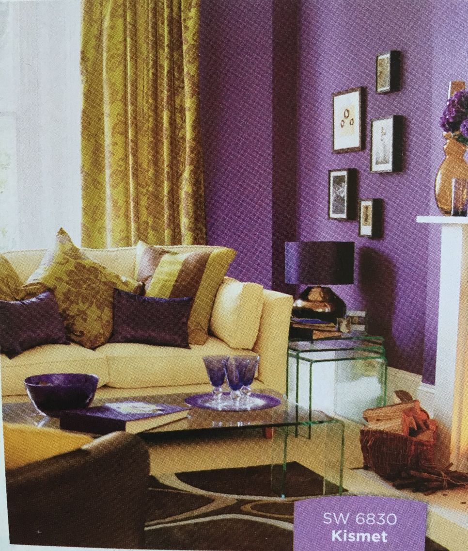 This E Is Complimentary Because Of The Contrast In Color Purple Living Rooms