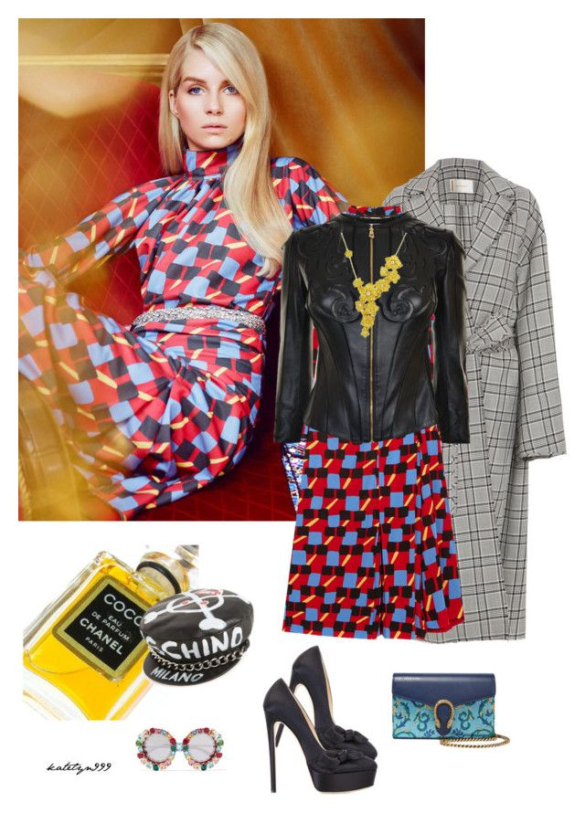 """""""Something about the way you move ..."""" by katelyn999 ❤ liked on Polyvore featuring Zimmermann, Prada, Jimmy Choo, Chanel, Dolce&Gabbana, Versace, Moschino, Gucci and Carrera y Carrera"""