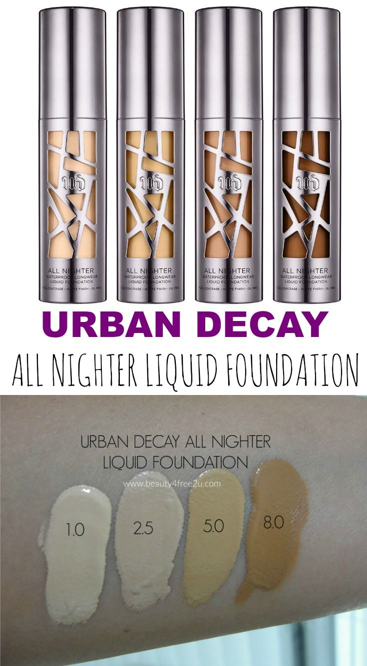Urban Decay All Nighter Foundation Review Swatches Urban Decay