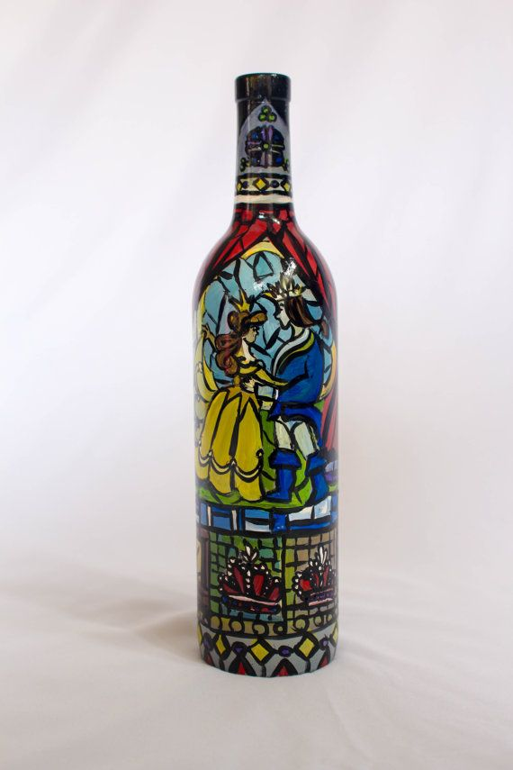 This bottle is beautifully hand painted with designs