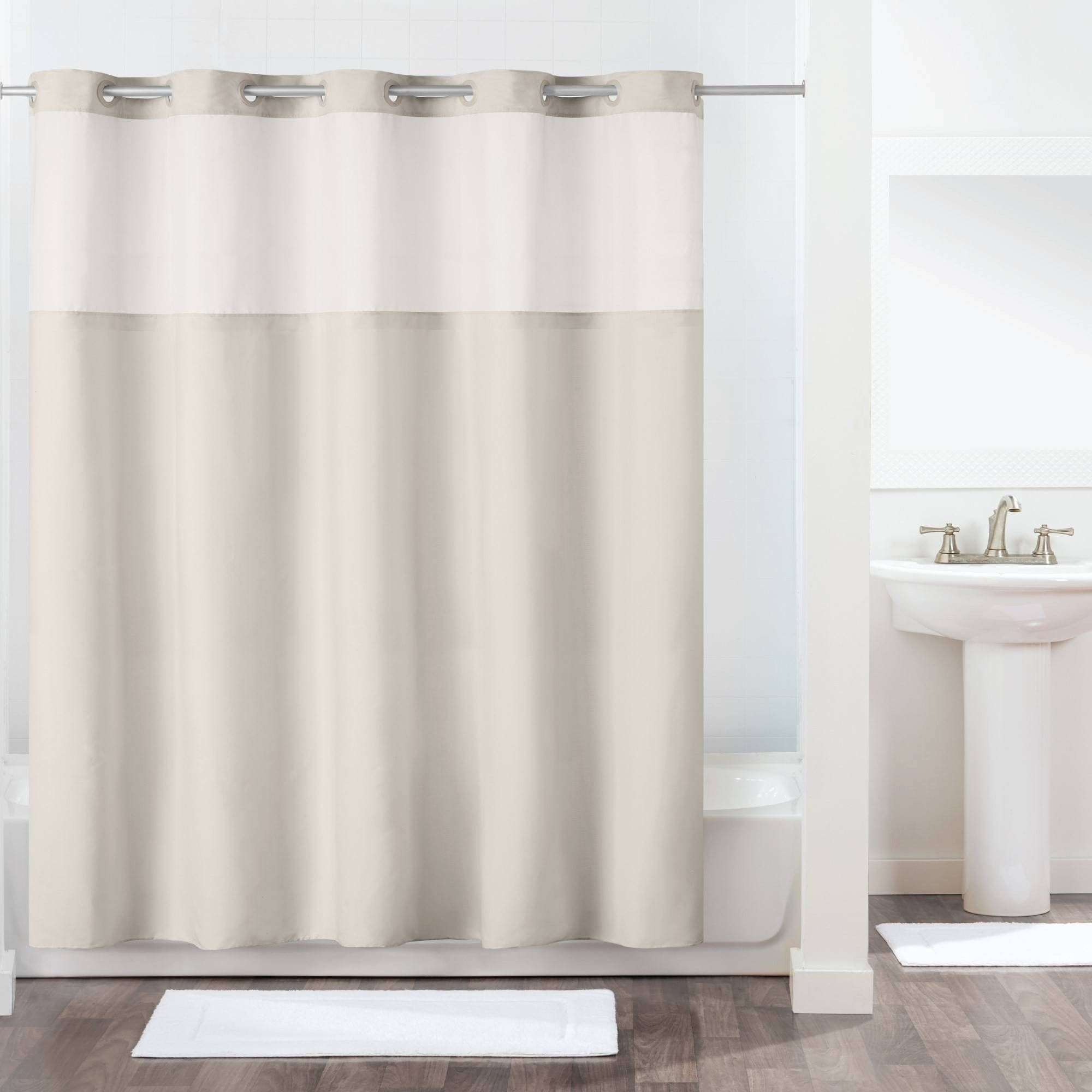 Antigo Shower Curtain With Fabric Liner Gray Hookless Hookless