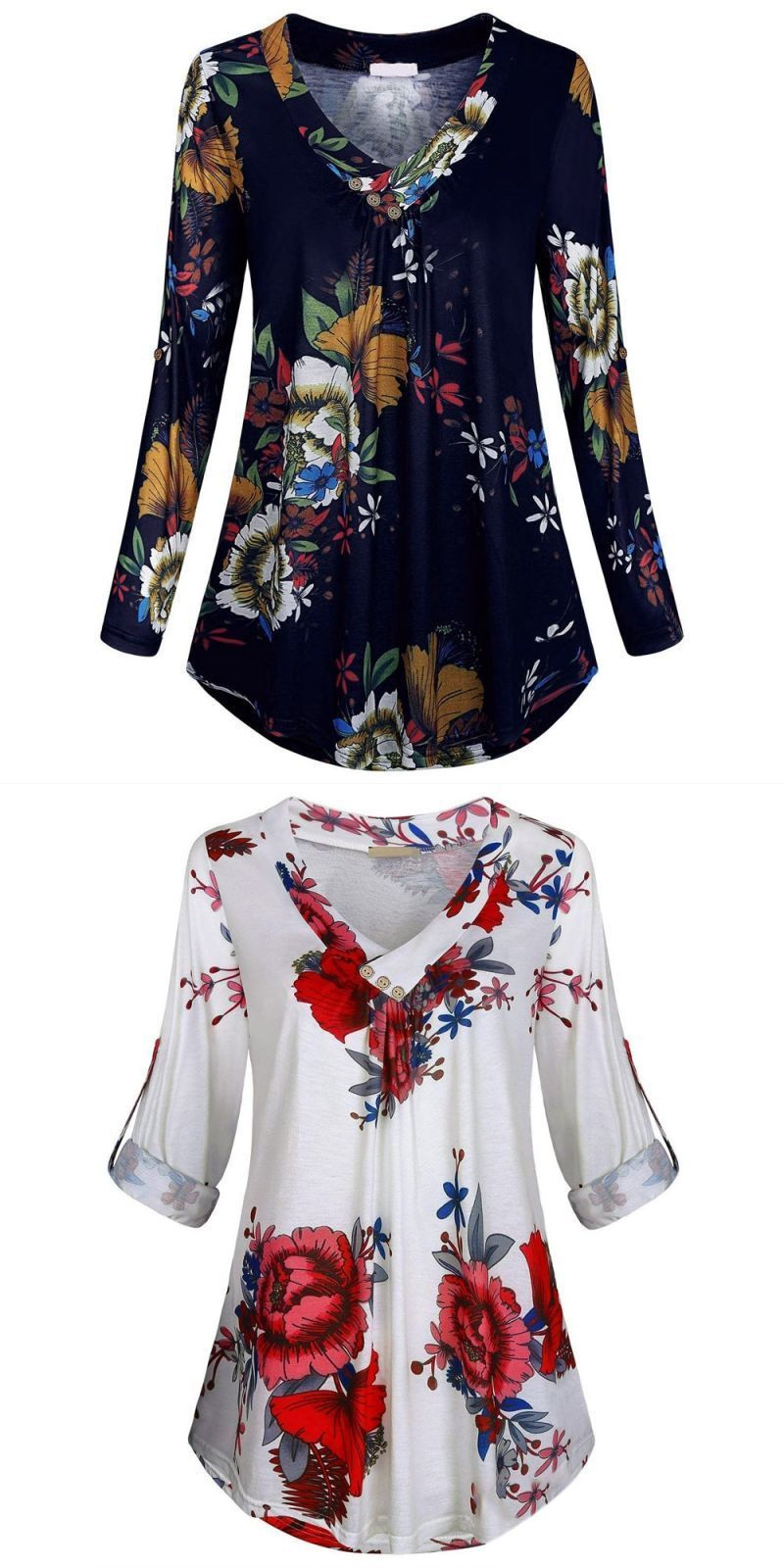c73609e6706 Plus size 5xl womens tops and blouses vintage floral print long sleeve  blouse 2018 women clothes ladies tops fashion clothing  polyester  regular   casual ...