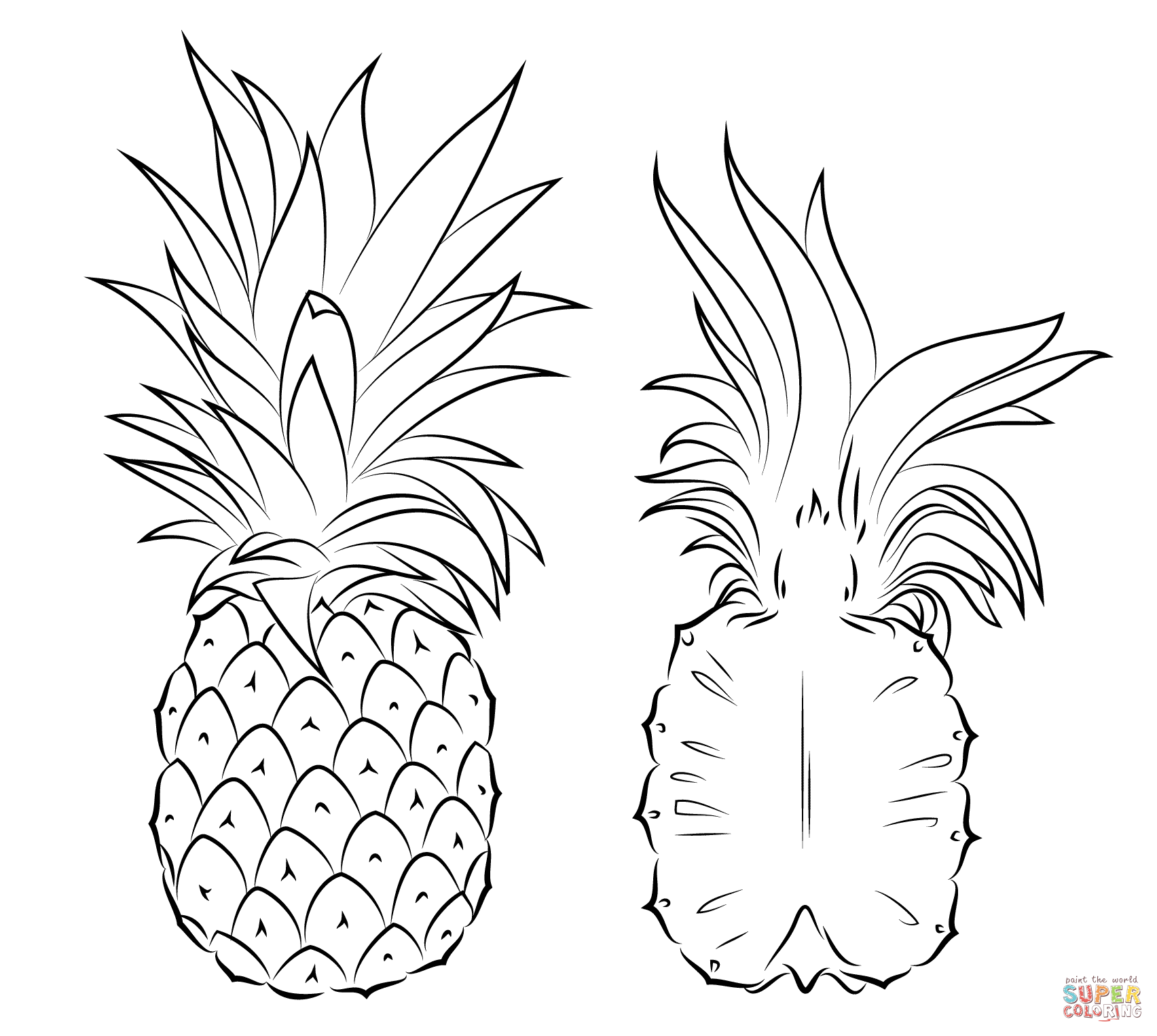 Click The Pineapple And Cross Section