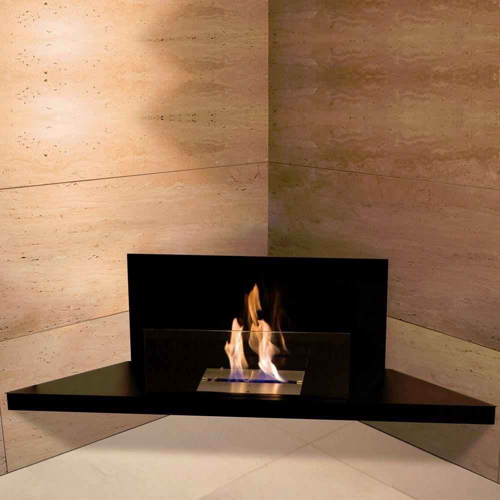 Chimenea Bioetanol Corner Flame Radius Design Chimenea De