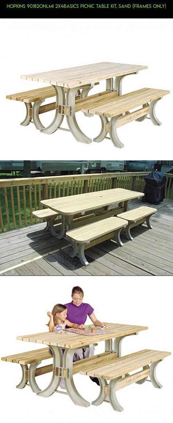 Hopkins 90182ONLMI 2x4basics Picnic Table Kit, Sand (Frames Only ...