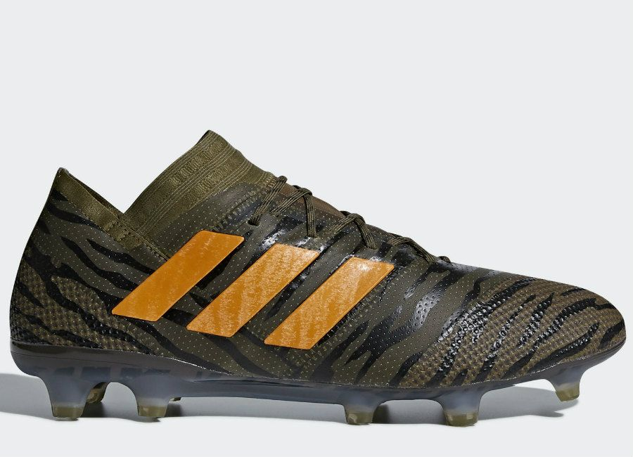 premium selection bdaee b801e  football  soccer  futbol  adidasfootball Adidas Nemeziz 17.1 Lone Hunter  FG - Trace Olive   Core Black   Bright Orange