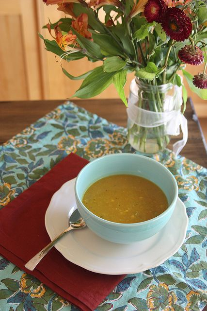 Butternut Squash Soup - Perfect for a cozy fall day, click for recipe!