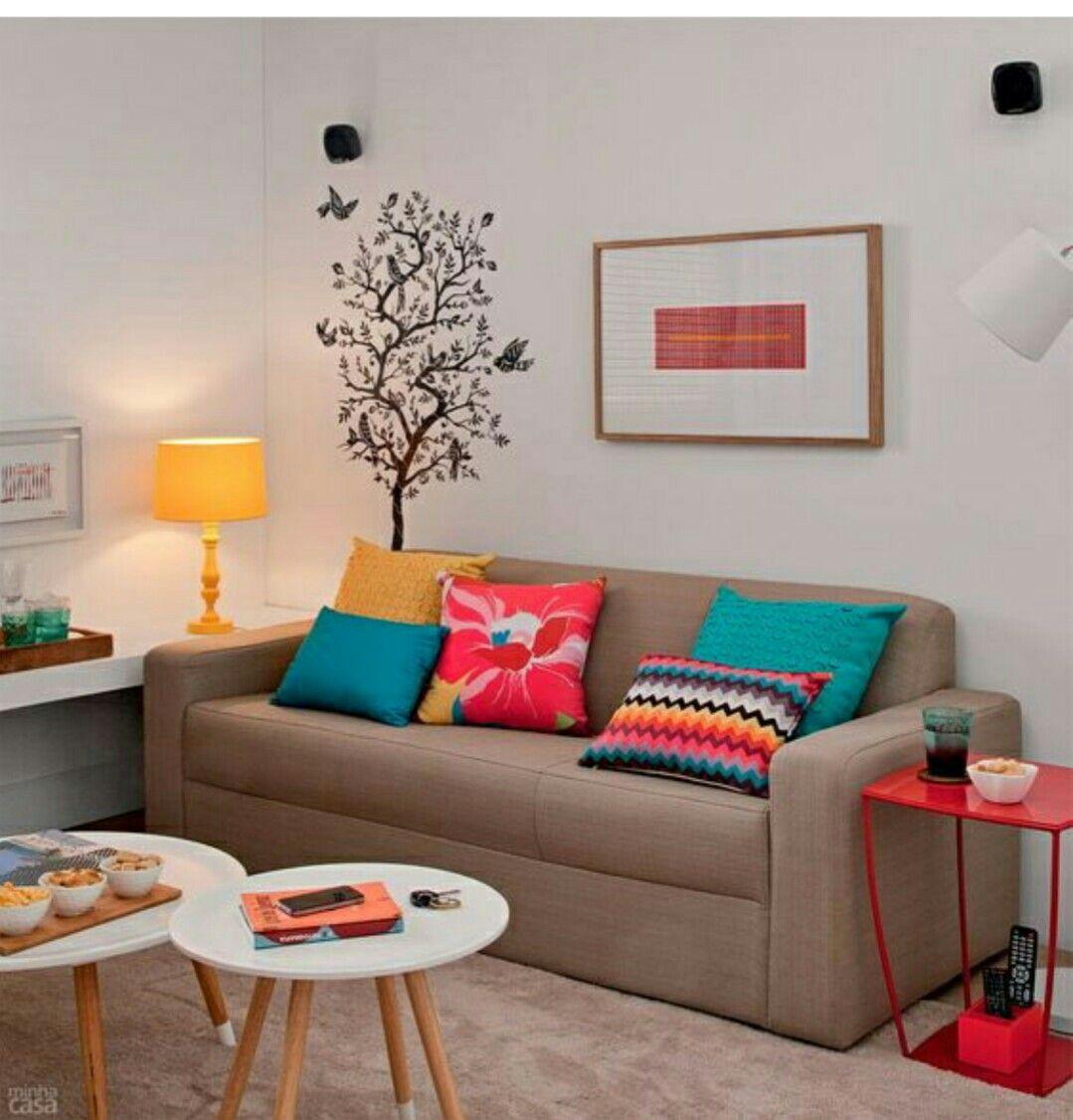 Pin Do A Louise N D Em Meubles Pinterest Decora O Casa  -> Sala Pequena Simples E Barata