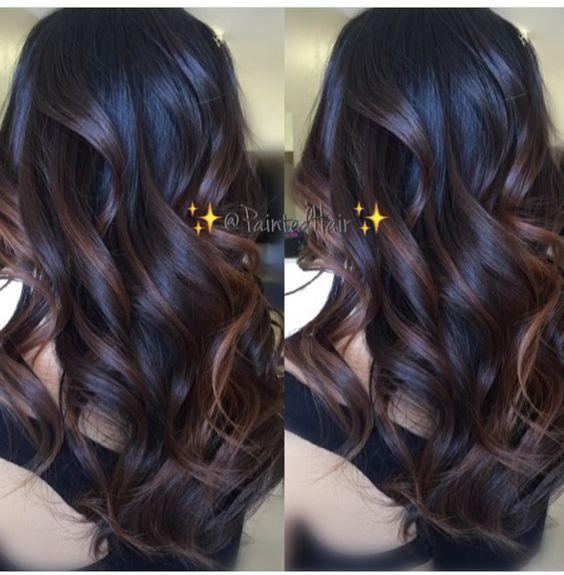 Cute Balayage Dark Hair Highlights Pinterest Balayage Dark